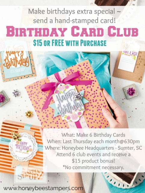 Birthday Card Club Sumter SC